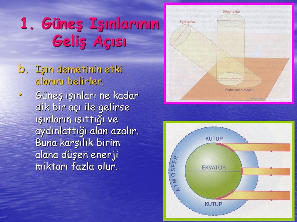 Yeryüzünde sıcaklık dağılışına ve değişimine etki eden en önemli faktördür.