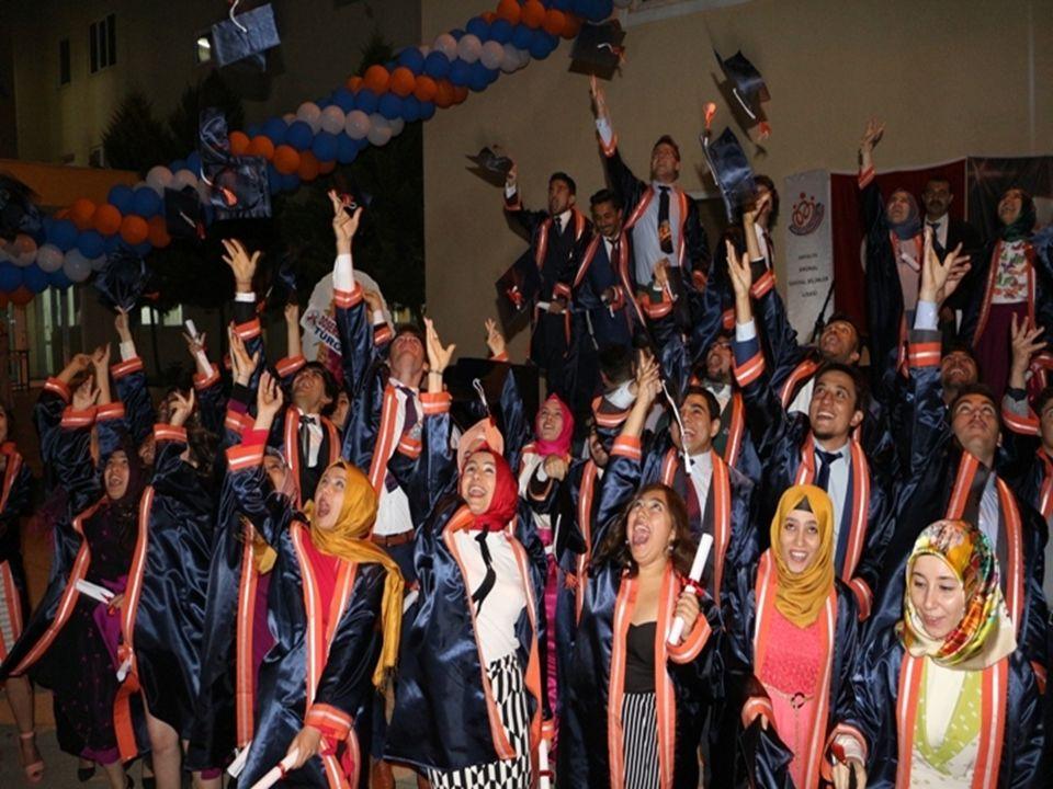 2012 yılında mezun olan 44 öğrenciden 44'ü bir üniversite programına yerleşti.