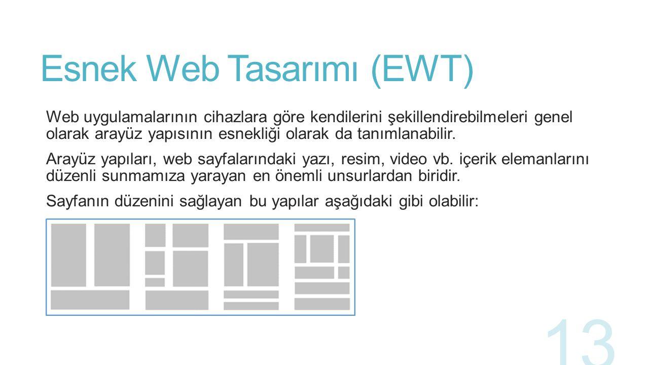 Bootstrap ve EWT İlişkisi Web uygulama geliştiricilerin her cihaz boyutuna özgü uygulama geliştirmeleri hem verilecek emek açısından hem de harcanacak zaman açısından bir sorun teşkil etmektedir.