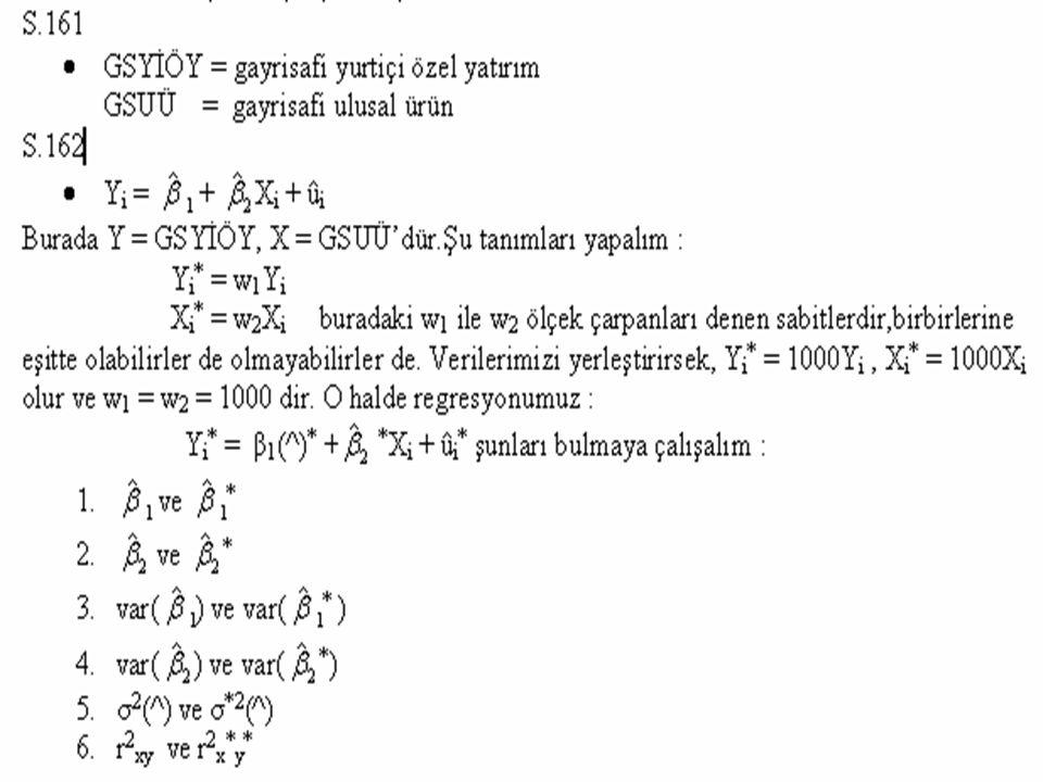 Doğ-log Modeli Dog-Log Model Dog-Log Model Yi = β1 + β2 ln Xi + ui böyle bir modele doğ-log modeli denir.