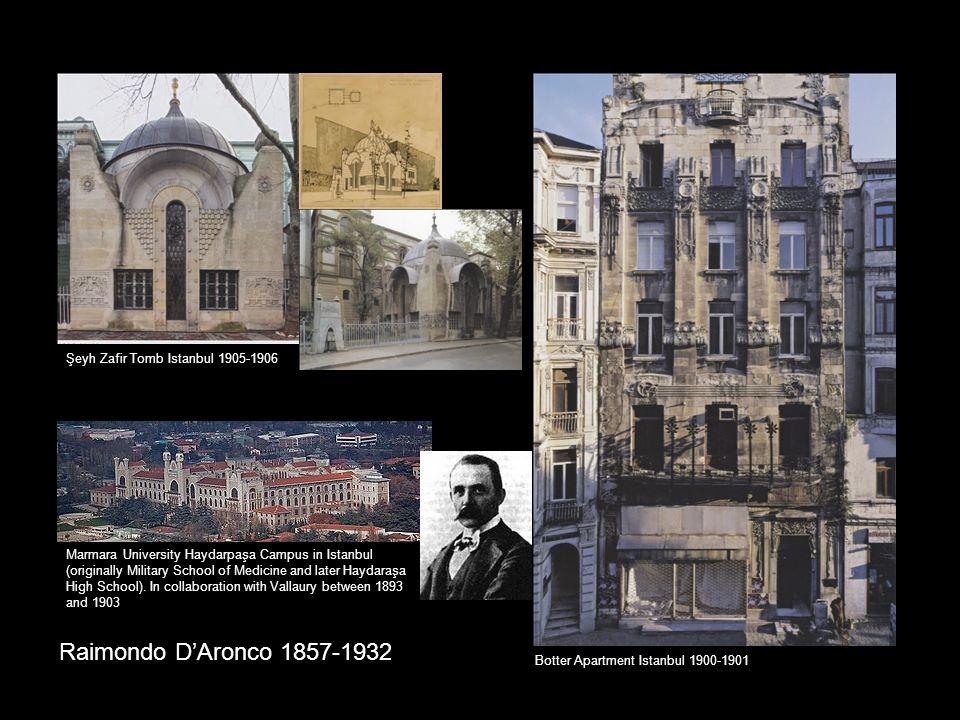 Raimondo D'Aronco 1857-1932 Marmara University Haydarpaşa Campus in Istanbul (originally Military School of Medicine and later Haydaraşa High School).