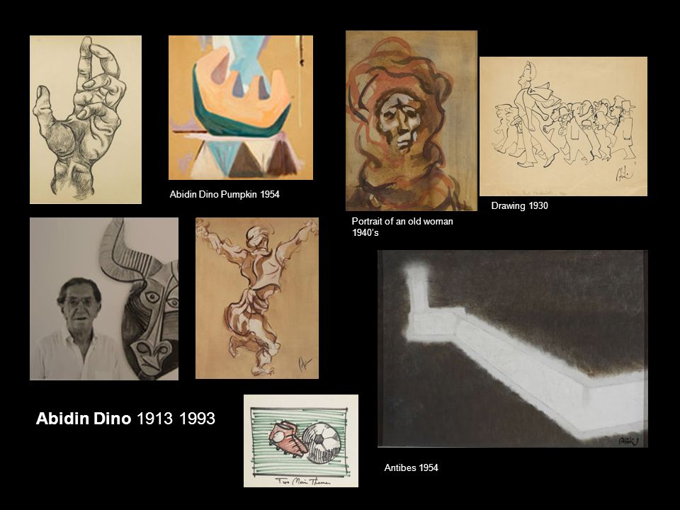 Abidin Dino Pumpkin 1954 Abidin Dino 1913 1993 Antibes 1954 Portrait of an old woman 1940's Drawing 1930