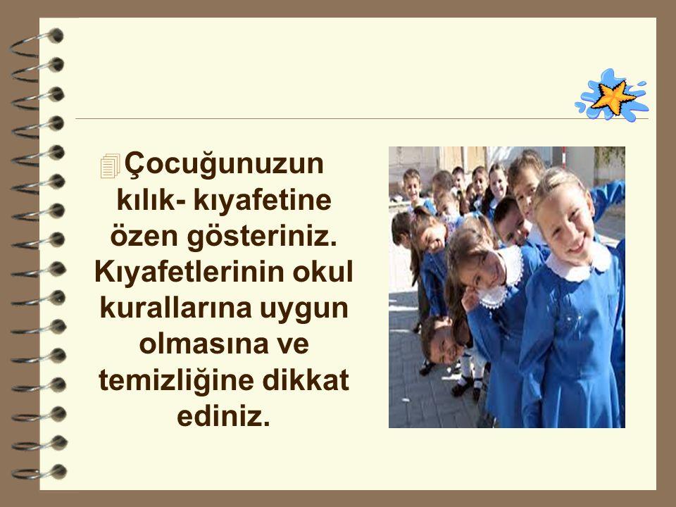  Çocuğunuzun derslerinin ve davranışlarının daha iyiye yönelmesi için, öğretmenlerle sıkı bir işbirliği kurunuz.