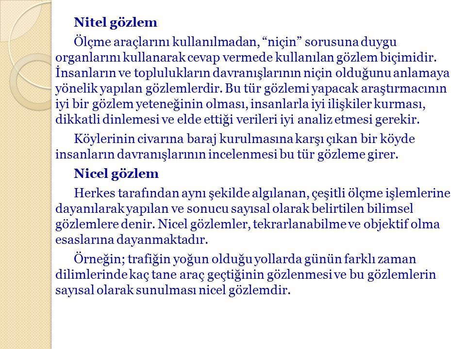 NİTEL ANALİZ TEKNİKLERİ 1.