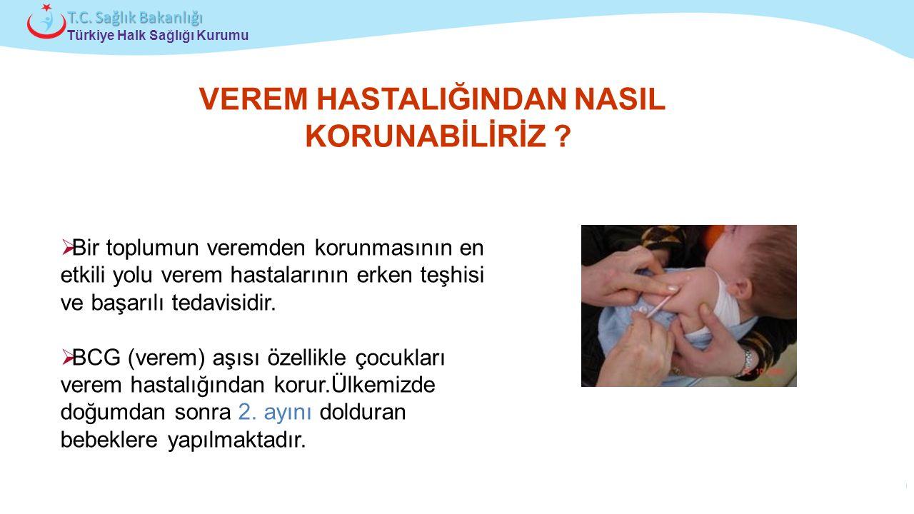 Çocuk ve Ergen Sağlığı Daire Başkanlığı Türkiye Halk Sağlığı Kurumu T.C. Sağlık Bakanlığı VEREM HASTALIĞINDAN NASIL KORUNABİLİRİZ ?  Bir toplumun ver