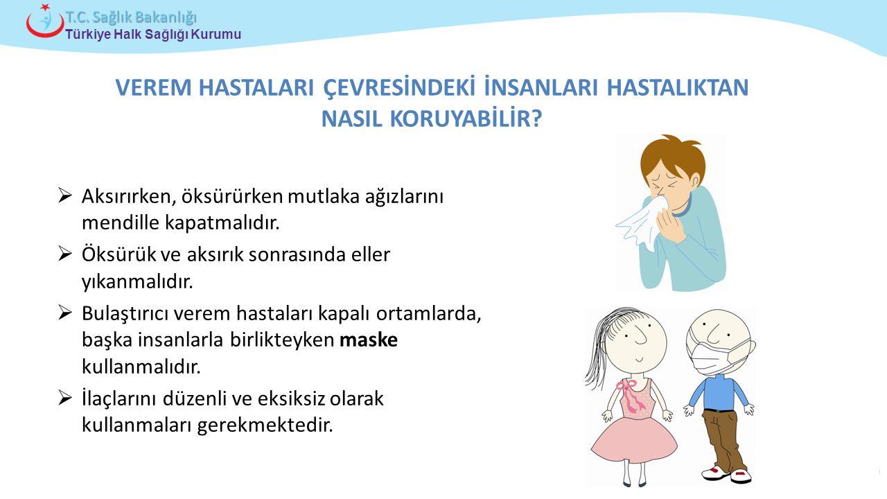 Çocuk ve Ergen Sağlığı Daire Başkanlığı Türkiye Halk Sağlığı Kurumu T.C. Sağlık Bakanlığı VEREM HASTALARI ÇEVRESİNDEKİ İNSANLARI HASTALIKTAN NASIL KOR