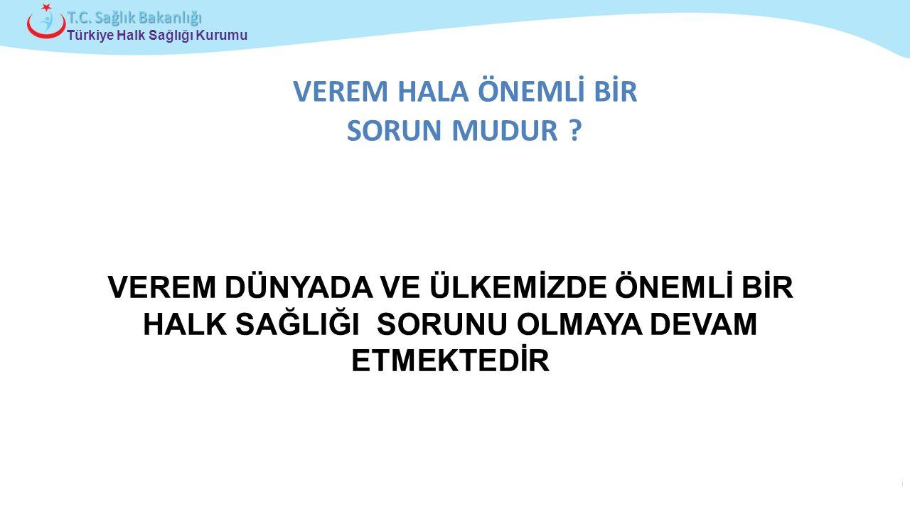 Çocuk ve Ergen Sağlığı Daire Başkanlığı Türkiye Halk Sağlığı Kurumu T.C. Sağlık Bakanlığı VEREM HALA ÖNEMLİ BİR SORUN MUDUR ? VEREM DÜNYADA VE ÜLKEMİZ