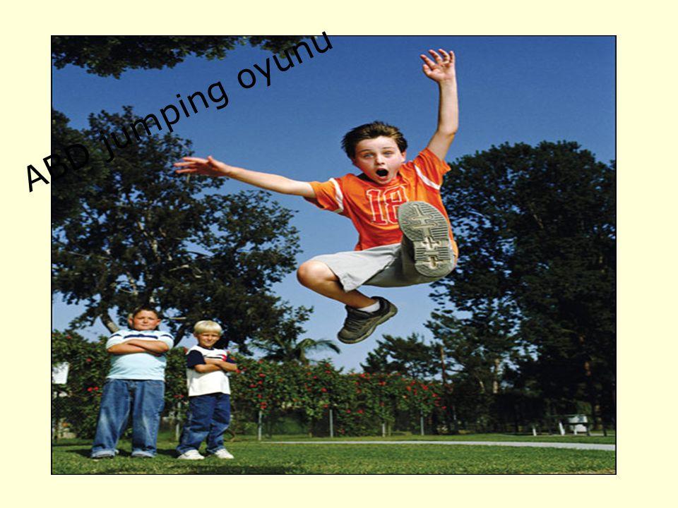 ZIPLAMAK SERBEST ABD Ladder jump adlı oyun amerikalı çocuklar arasında çok popülerdir Üç ya da dörderli gruplara ayrılan çocukların her biri bir numara alır Her takımın bir numaralı oyuncusu başlama çizgisine gelir ve iki ayağını birbirine bitiştirerek en uzak mesafeye sıçrar Daha sonra iki numaralı oyuncu bir numaralı oyuncunun bıraktığı ayak izlerini başlangıç noktası alarak aynı şekilde sıçrar Gruptaki herkes bir kere sıçradıktan sonra ayak izlerini başlangıç noktasından en uzağa taşıyan grup oyunu kazanır