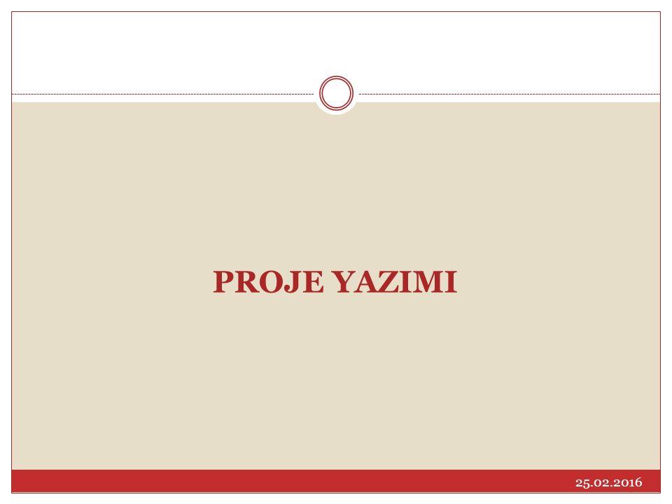 PROJE YAZIMI