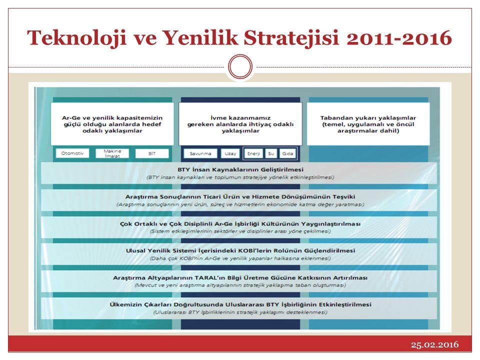 Teknoloji ve Yenilik Stratejisi 2011-2016 25.02.2016