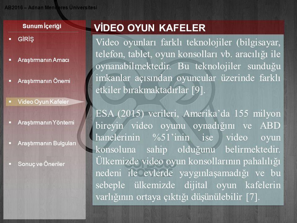 Sunum İçeriği VİDEO OYUN KAFELER Video oyunları farklı teknolojiler (bilgisayar, telefon, tablet, oyun konsolları vb. aracılığı ile oynanabilmektedir.