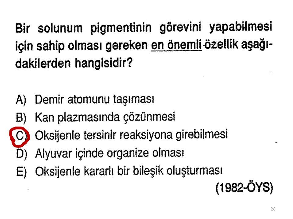 KARBONDİOKSİT TAŞINMASI H 2 CO 3 H + + HCO 3 - H + + HCO 3 - H 2 CO 3 Hb + H + Hb H Hb H Hb + H + Doku Kılcalları Akciğer Kılcalları 29