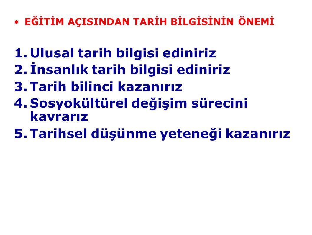 8.Tanzimat dönemine kadar eğitim her düzeyde ücretsizdir 9.