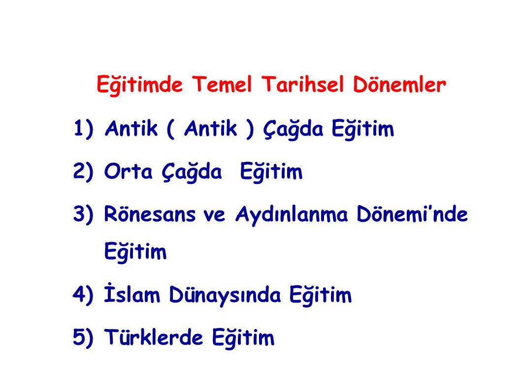 Türk toplumlarının eğitim anlayış ve uygulamaları, yaşama biçimlerinin etkisiyle şekillenmiştir.