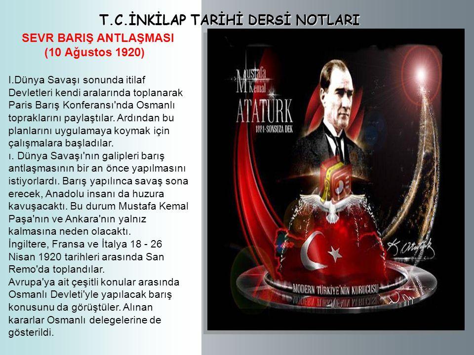 T.C.İNKİLAP TARİHİ VE ATATÜRKÇÜLÜK