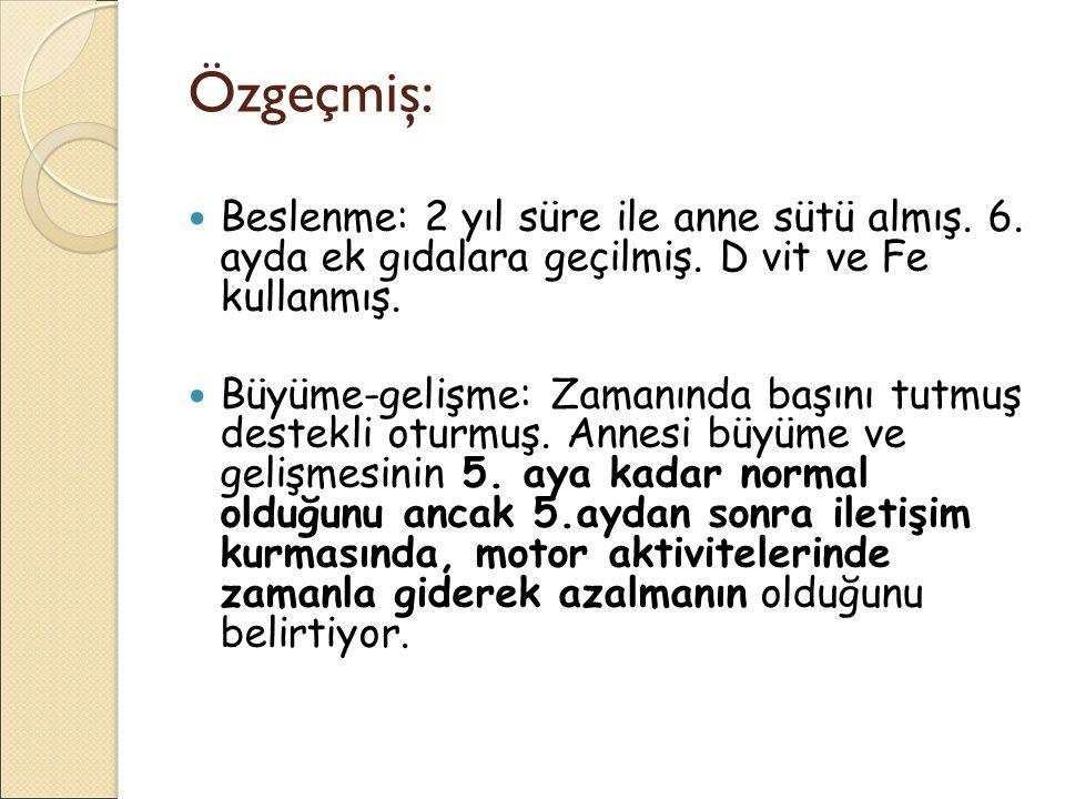 Minör bulgular 1.Retinada hipopigmente yama 2. Hamartomatöz rektal polip 3.