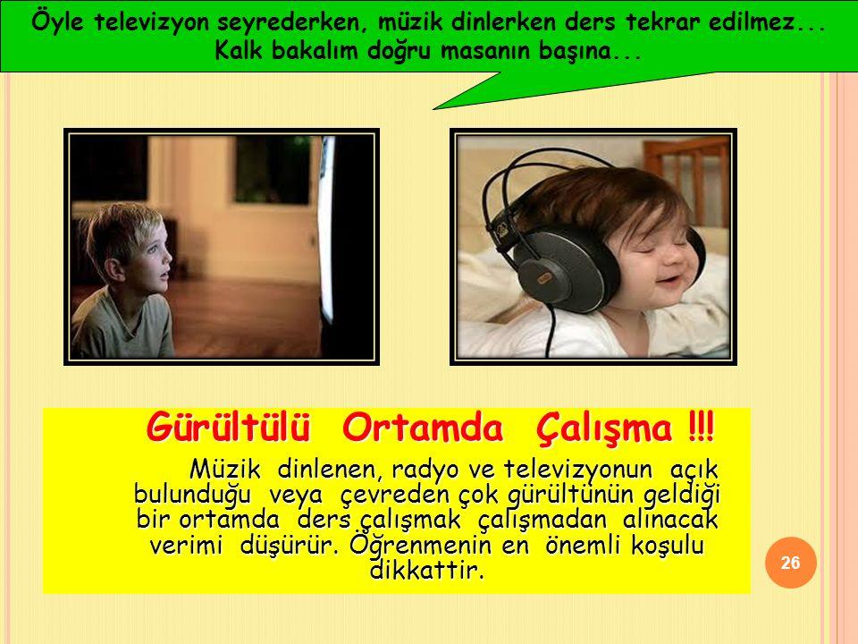 Gürültülü Ortamda Çalışma !!.
