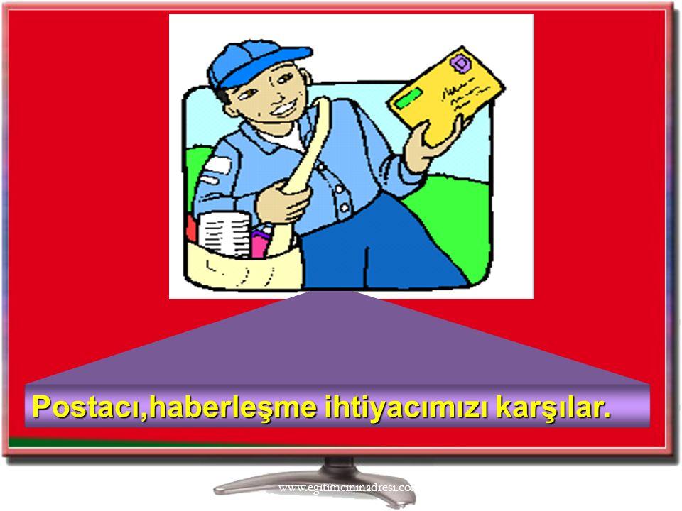 3/4/201610 Postacı,haberleşme ihtiyacımızı karşılar. www.egitimcininadresi.com