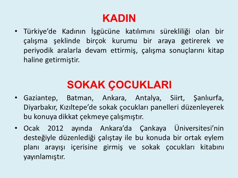 KADIN Türkiye'de Kadının İşgücüne katılımını sürekliliği olan bir çalışma şeklinde birçok kurumu bir araya getirerek ve periyodik aralarla devam ettir