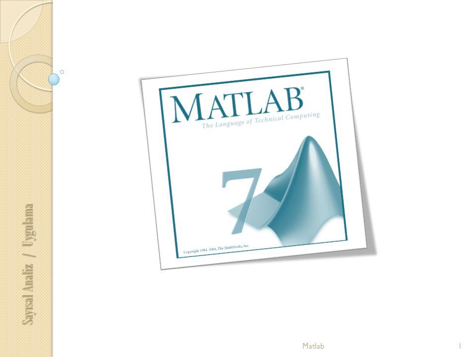 Sayısal Analiz / Uygulama 1Matlab