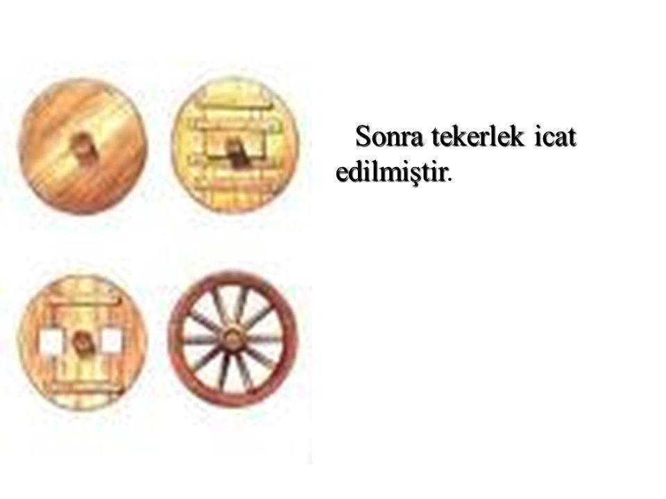 Sonra tekerlek icat edilmiştir Sonra tekerlek icat edilmiştir.