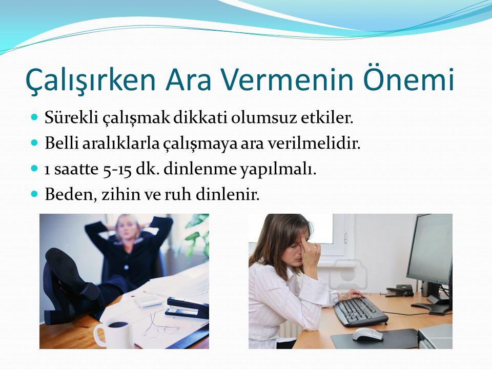 Soru 2 Bilgisayar kullanımı sırasında oluşabilecek sağlık sorunları arasında aşağıdakilerden hangisi yer almaz.