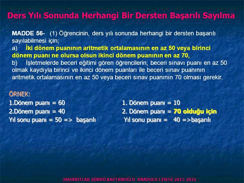 HAFTALIK DERS SAATİ ÖĞRENCİ NİN 1. DÖNEM PUANI ÖĞRENCİ NİN 2.