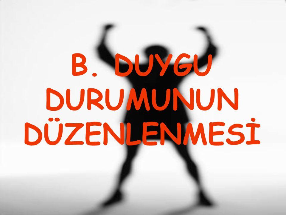 B. DUYGU DURUMUNUN DÜZENLENMESİ
