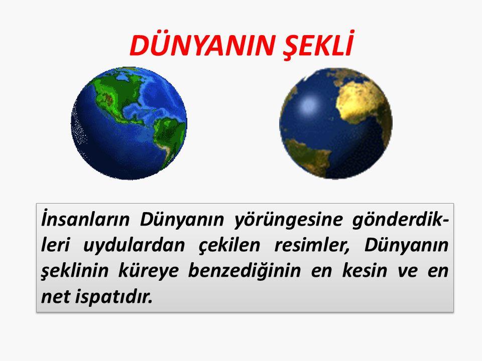 Dünyamızın alttan ve üstten basık, ortasından şişkin küre şekline Geoit deriz.