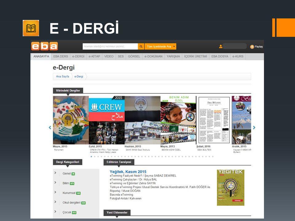 E - DERGİ