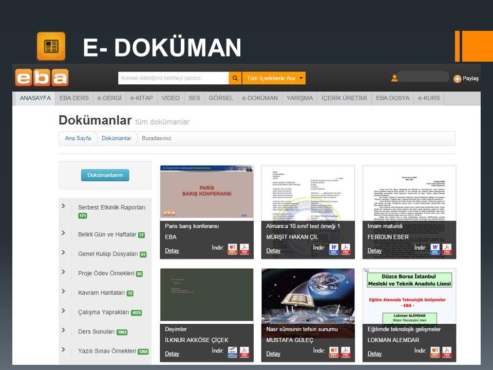 E- DOKÜMAN