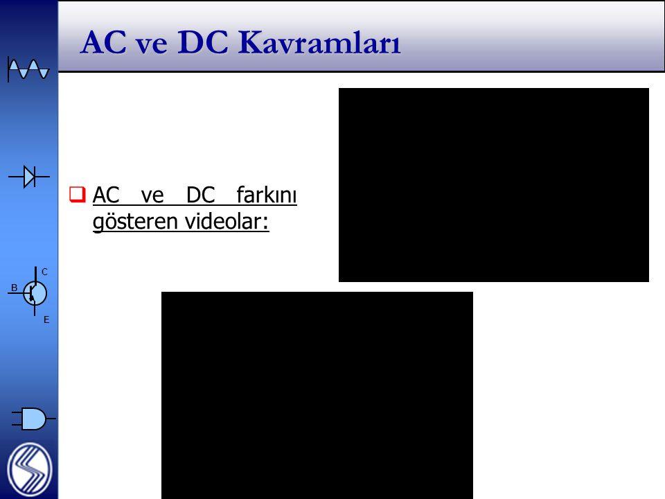 C E B AC ve DC Kavramları  AC ve DC farkını gösteren videolar: