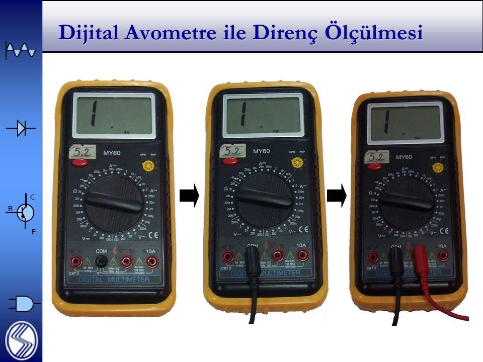 C E B Dijital Avometre ile Direnç Ölçülmesi