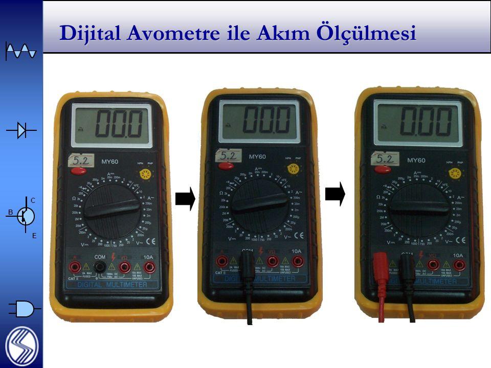 C E B Dijital Avometre ile Akım Ölçülmesi