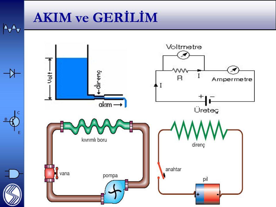 C E B Voltmetre ve Ampermetre İç dirençleri  Voltmetre ve Ampermetrenin devreye bağlanma yöntemlerine bakarak iç dirençleri hakkında yorum yapınız.
