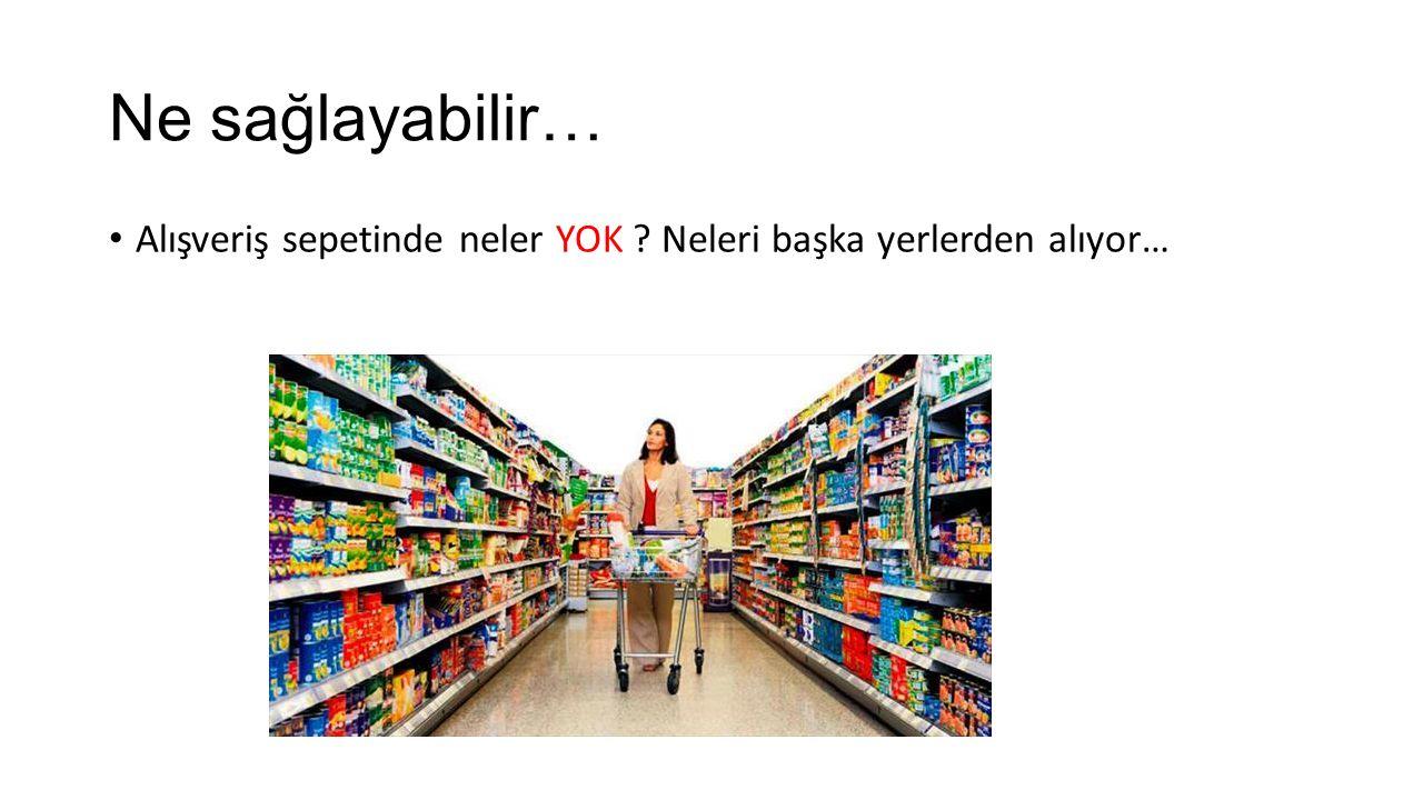 Ne sağlayabilir… Alışveriş sepetinde neler YOK ? Neleri başka yerlerden alıyor…