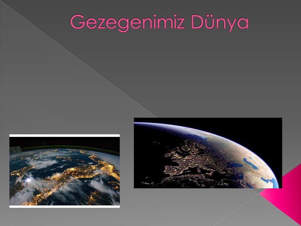  1.Dünyamızın Şekli  Yeryüzünde bulunduğumuz noktadan Dünya' ya baktığımızda onu düz görürüz.