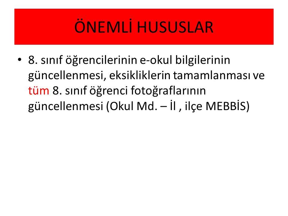 ÖNEMLİ HUSUSLAR Engelli Öğrenci veli bilgilendirmesi( Okul Md – RAM Md.- İlçe sınav koord.)