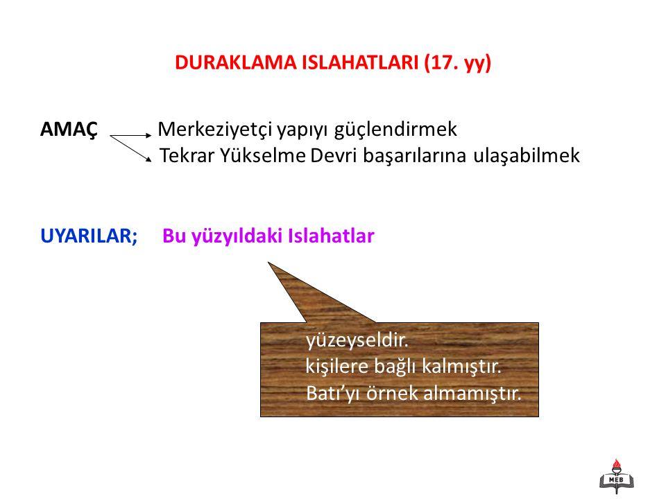 DURAKLAMA ISLAHATLARI (17.