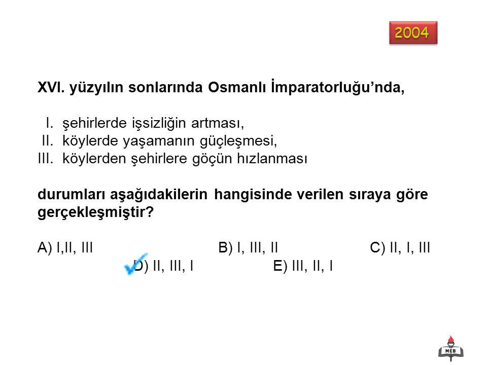 XVI. yüzyılın sonlarında Osmanlı İmparatorluğu'nda, I.