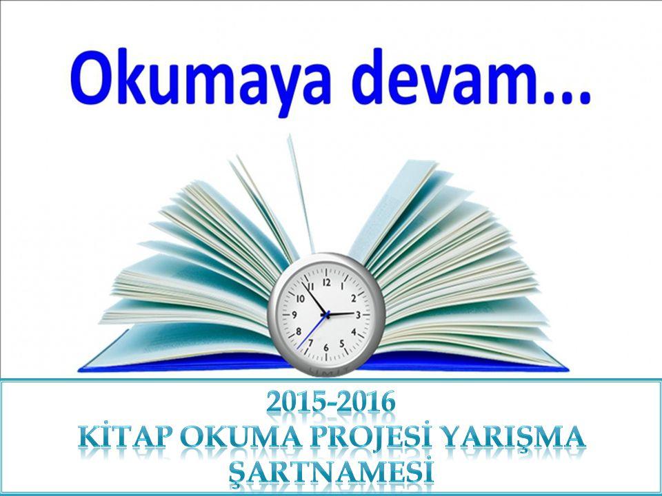 İlçe Millî Eğitim Müdürlüğünce, Kitap Okumayı Yaygınlaştırmak amacıyla 2015-2016 eğitim öğretim yılında ilçemizde düzenlenecek olan Kitap okuma yarışmasınının şartnamesi, İlçe Millî Eğitim Müdürlüğü Kitap Okuma Yarışması Yürütme Komisyonu Üyeleri ile Alaca İlim Yayma Cemiyeti tarafından oluşan komisyon tarafından belirlenmiş ve aşağıya çıkarılmıştır.