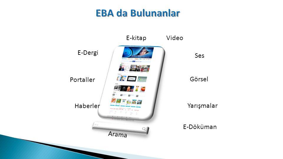 Haberler Portaller E-kitapVideo Ses Görsel Yarışmalar E-Dergi Arama E-Döküman