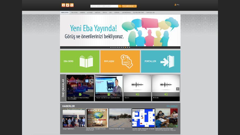 Eba FATİH projesinin bir parçası olarak oluşturulmuş çevirim içi sosyal eğitim platformudur.