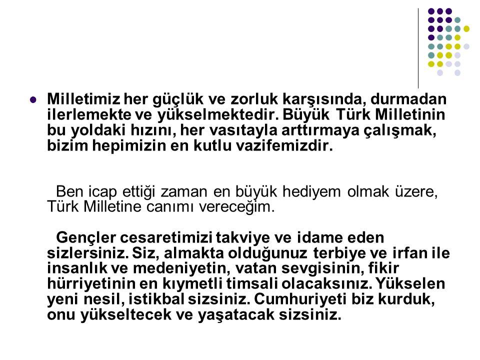1-***Cumhuriyetçilik 2- Milliyetçilik 3-***Laiklik 4-Halkçılık 5-Devletçilik 6-İnkılapçılık (***Atatürk'ün asla taviz vermediği iki ilke)