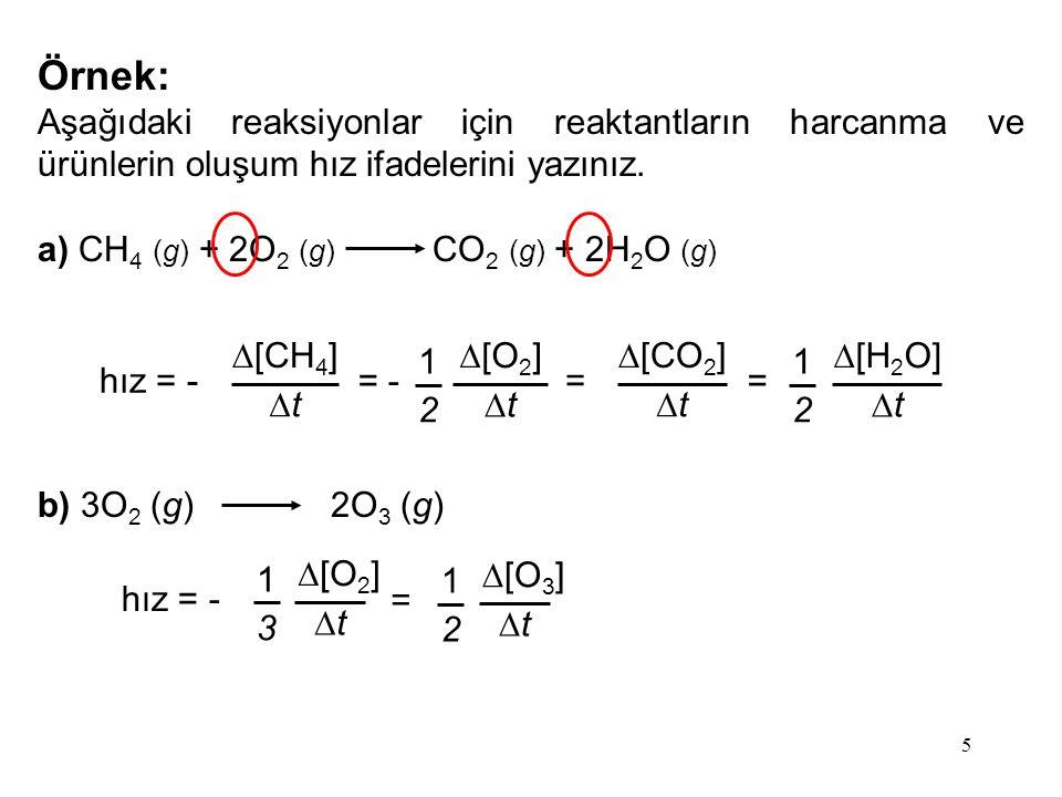 36 N 2 (g) + 3H 2 (g) 2NH 3 (g) Fe/Al 2 O 3 /K 2 O katalizör Haber Prosesi