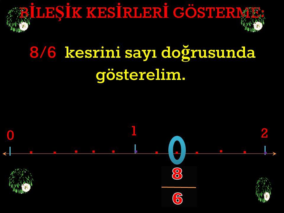 B İ LE Şİ K KES İ RLER İ GÖSTERME: 11/6 kesrini sayı do ğ rusunda gösterelim. 0 1 2............