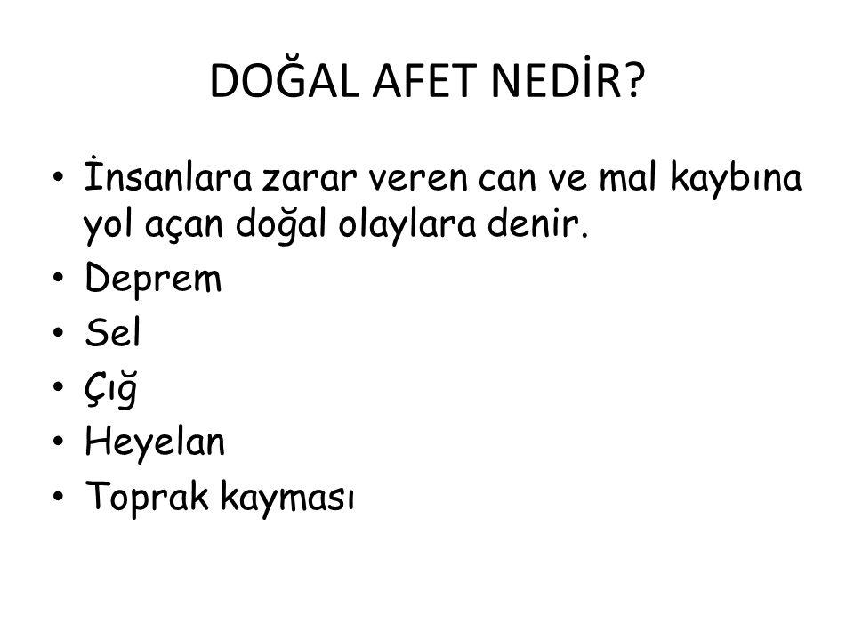 Çığ en fazla Türkiye' nin doğusunda görülür.