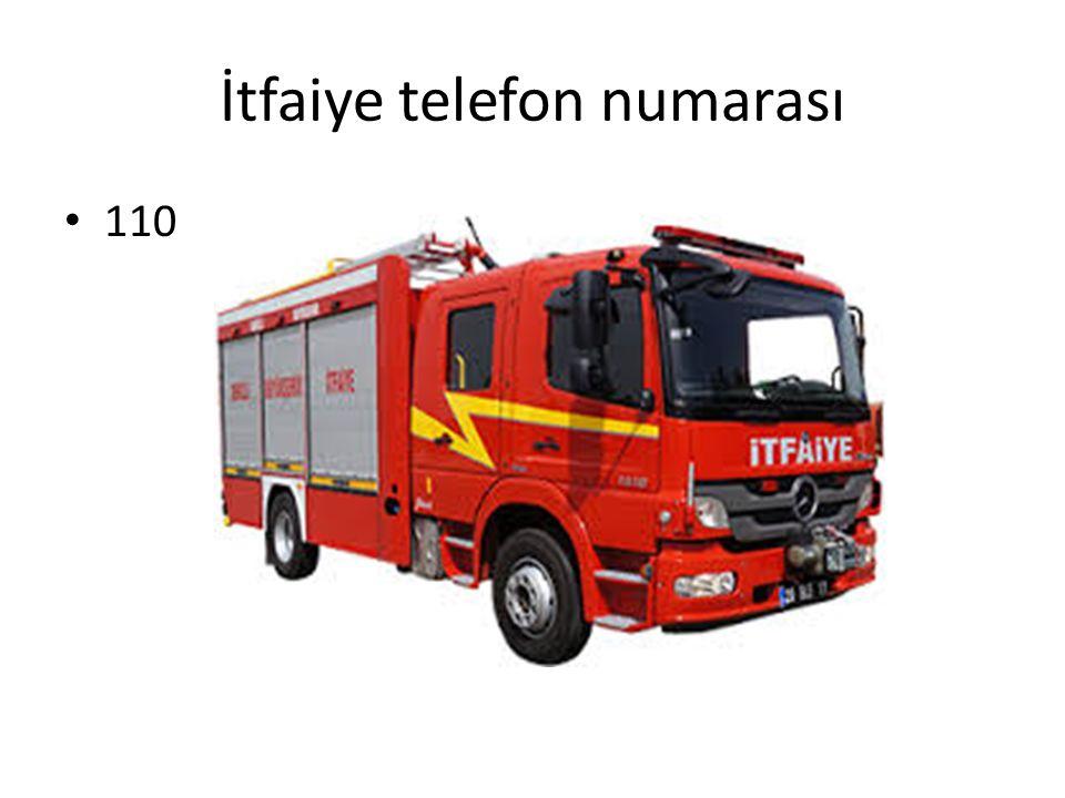 İtfaiye telefon numarası 110