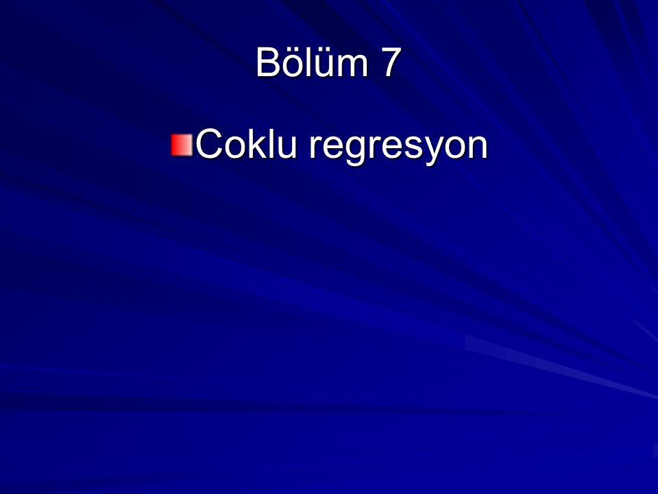 KISMİ REGRESYON KATSAYILARININ ANLAMI Y i =  1 +  2 X 2i +  3 X 3i + u i Y bağımlı değişken, X2 ile X3 açıklayıcı değişkenler, u olasılıklı bozucu terim, (Hata payi) i, i'inci gözlemdir.