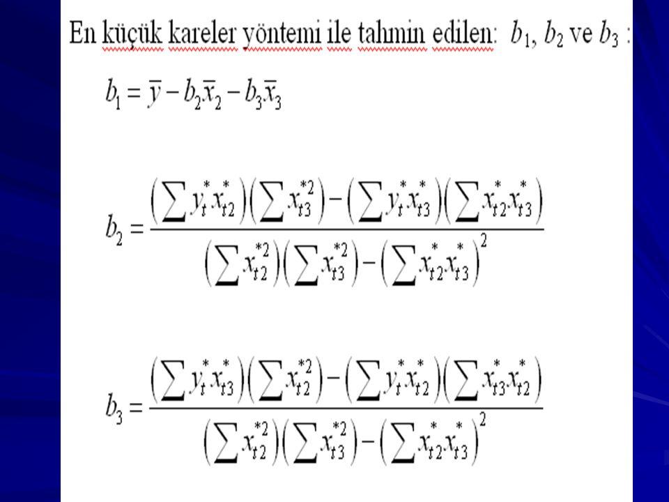 SEK TAHMİN EDİCİLERİ ders kıtabından X 2i = X 2I – X 2I -